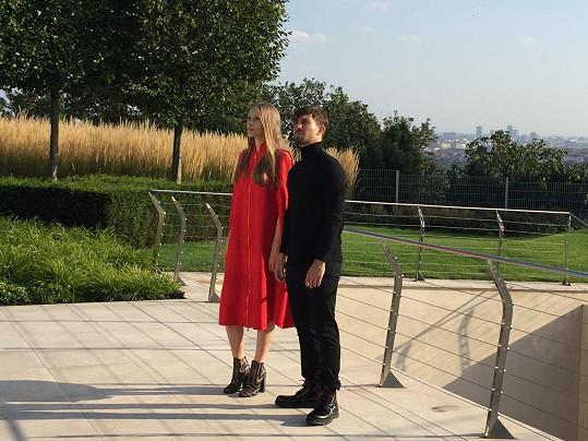 S Lukášem fotila ukrajinská modelka Alina Dementieva.