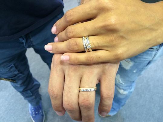 Snubní prstýnky slavného páru