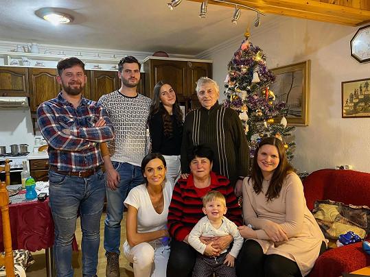 Během svátků navštívila Eliška i prarodiče.