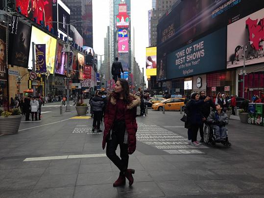 Sabina Rojková na Times Square