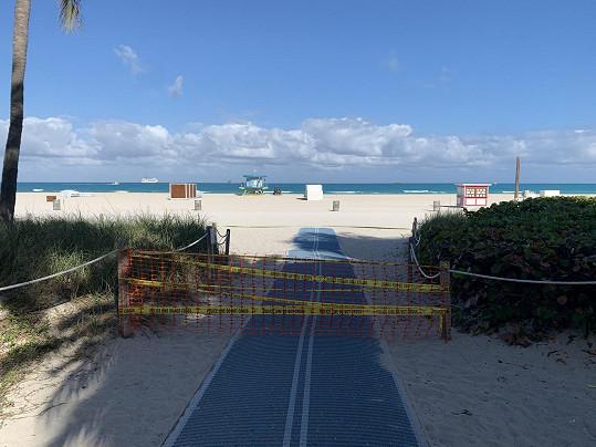 South Beach je nepřístupná. Projevilo se to na její čistotě.