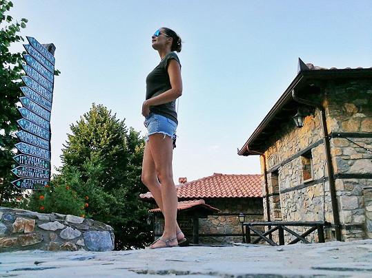 Řecko je její oblíbenou destinací.