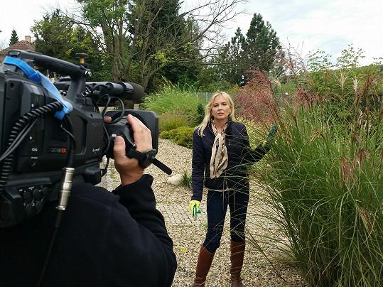 Zkušenosti z byznysu zužitkuje před kamerou pořadu Mistři zahrad.