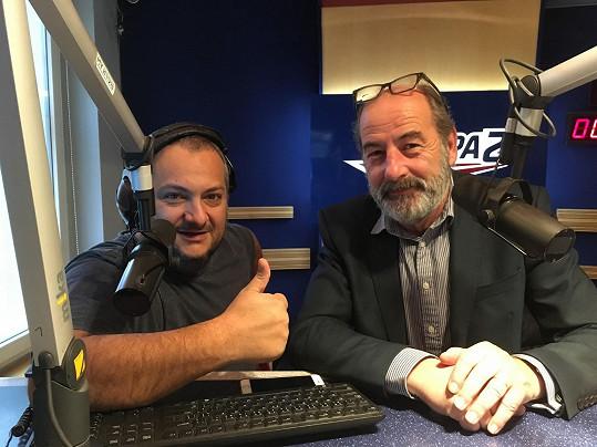 Patrik Hezucký a jeho šéf Michel Fleischmann. Patrik chce zpátky návrat Šilhánové.