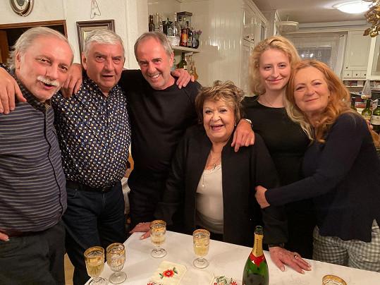 Herečka slavila s rodinou a nejbližšími.