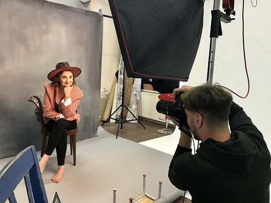 Petrem Kurečkou se nechala herečka nafotit i civilně.