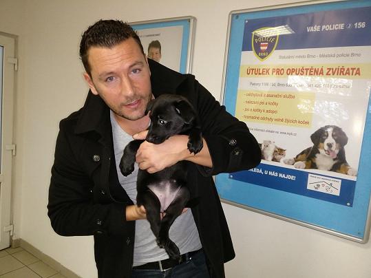 Michal navštívil psí útulek.