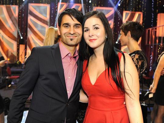 Radek Banga s manželkou se přišli podívat na StarDance, kde Banga v minulé řadě skončil čtvrtý.