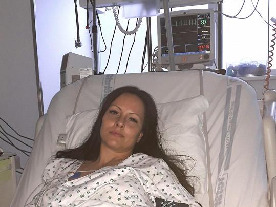 Ellen v nemocnici.