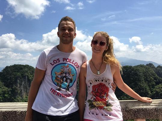 Sabina Křováková s přítelem Ondrou