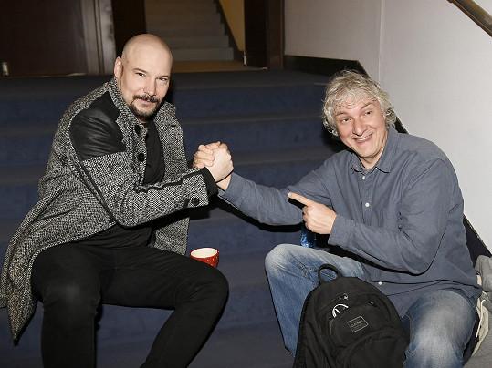 Bohuš Matuš s kolegou z Divadla Broadway Broňou Kotišem