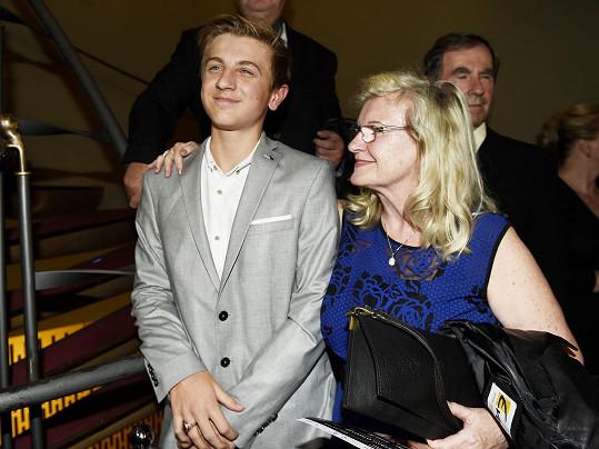 Maminka Leony s vnukem Arturem