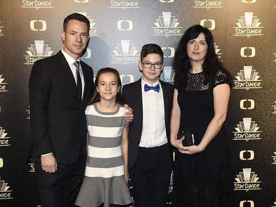 Martin Řezníček vyrazil s rodinou na StarDance.