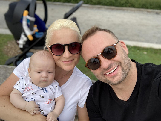S manželkou a mladším synem Dorianem Markem