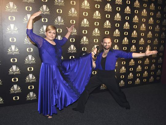 Pavla Tomicová s tanečním partnerem Markem Dědíkem
