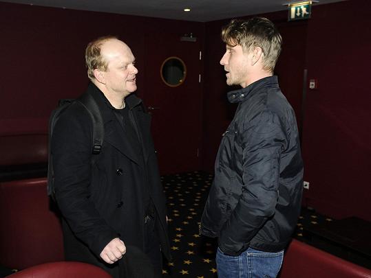 Míra na premiéře s kolegou Davidem Novotným
