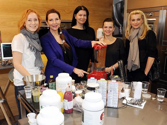 Na výživové seanci se sešla s dalšími známými ženami.