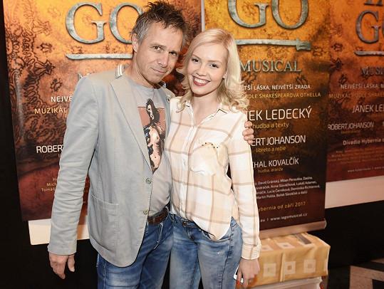 Společné foto Ledeckého s Markétou Poulíčkovou