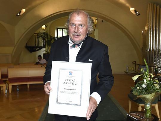 Kristian Kodet se stal čestným občanem Prahy 1.