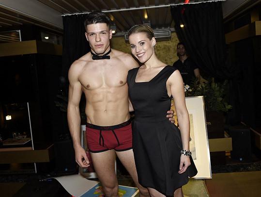 Adam Gemrot se svou slavnější sestrou Michaelou