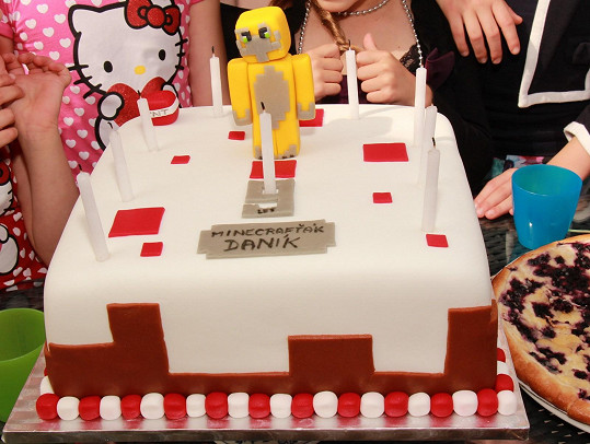 Takhle vypadal dort malého oslavence.