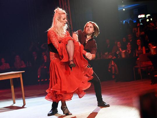 Anna Polívková a Michal Kurtiš opět řádili na tanečním parketu.