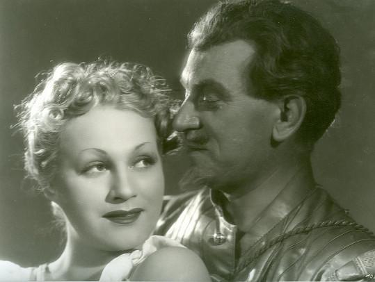 Adina Mandlová se Zdeňkem Štěpánkem ve slavném filmu Cech panen kutnohorských (1938)