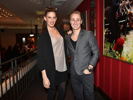 Aneta s Michalem na párty