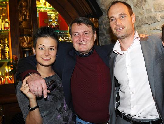 Ladislav Štaidl s dcerou Karolínou a synem Jiřím na archivním snímku. Měl ještě syna Jana a Artura.