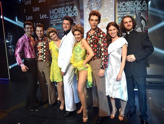 S ostatními protagonisty muzikálu v divadle Kalich