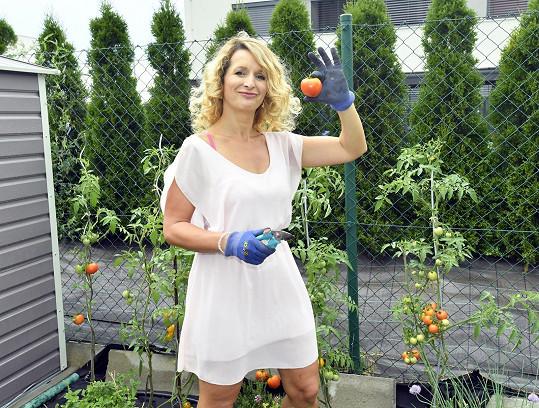 Pěstuje i zeleninu...