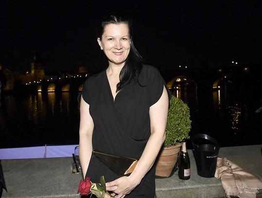Jako vždy v černé přišla návrhářka Tatiana Kovaříková.