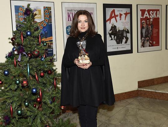 Dana Morávková na vánočním trhu Divadla Bez zábradlí
