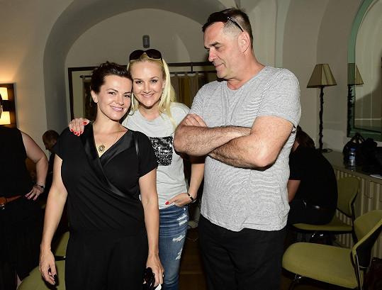 S kolegyní Martou Jandovou a lektorkou zpěvu Lindou Finkovou