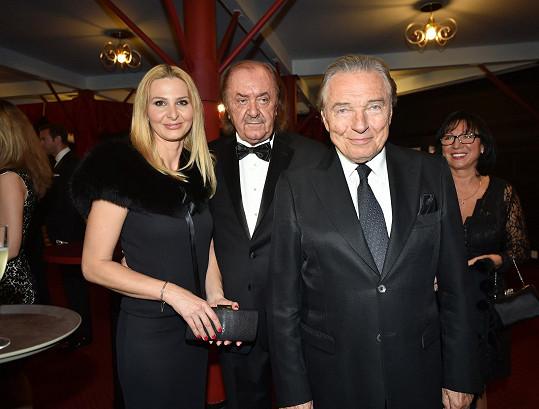 Manželé s producentem Františkem Janečkem