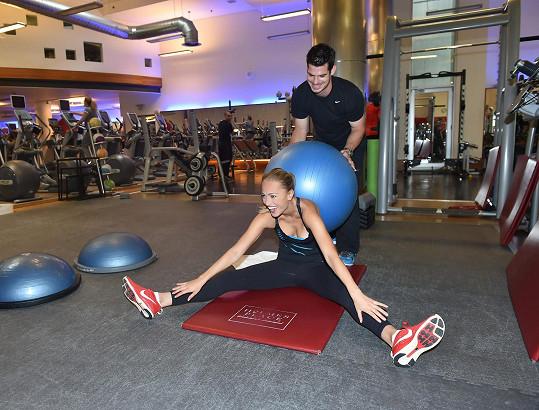 Renata se zvládne u cvičení i pořádně zasmát.