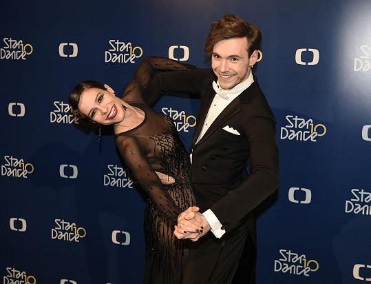 Veronika Kubařová a její taneční partner Dominik Vodička