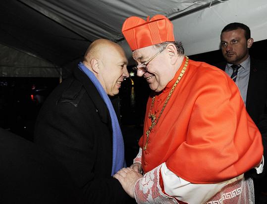 Kardinál Dominik Duka se starostou Prahy 1 Oldřichem Lomeckým