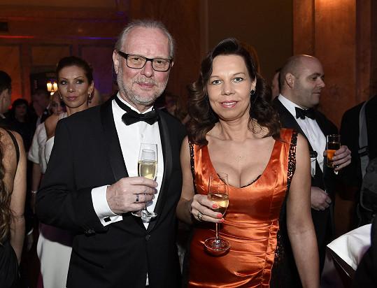 Vašo Patejdl s manželkou na Česko-Slovenském plese