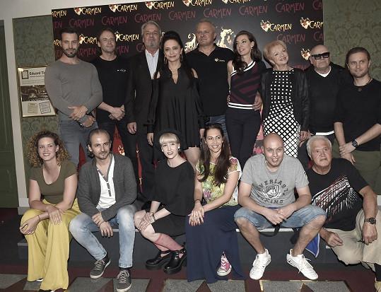 S kolegy z muzikálu Carmen
