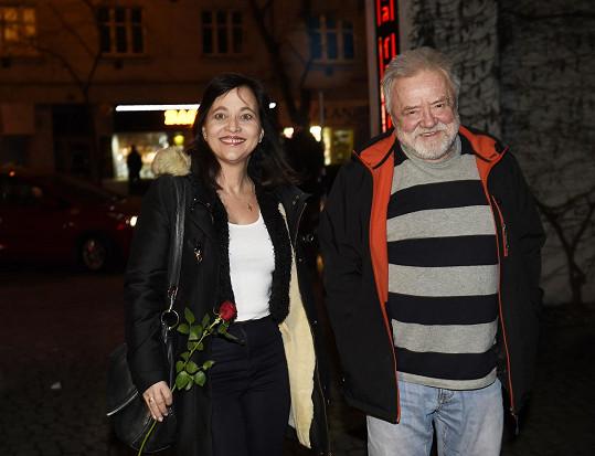 Alena Mihulová dorazila s kamarádem Zdeňkem Duškem.