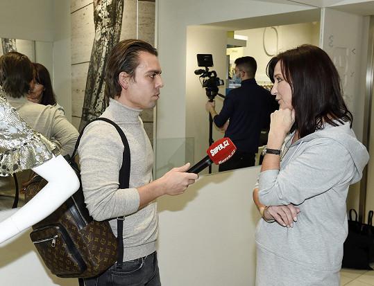 Beata Rajská během rozhovoru pro Super.cz