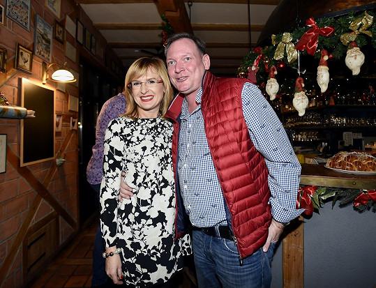 S manželem na vánoční párty
