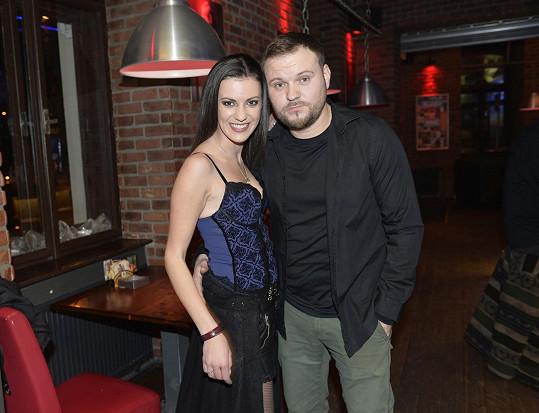 S přítelem Tomášem Krejzou, který jí je velkou oporou.
