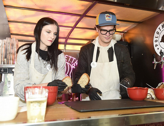 S kolegou Davidem Krausem na openingu food trucku pod pražským Petřínem