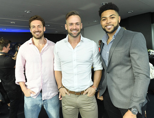 Kuba se setkal s Mužem roku 2011 Martinem Gardavským (vlevo) a bronzovým Mužem roku 2019 Immanuelem Adenubim.