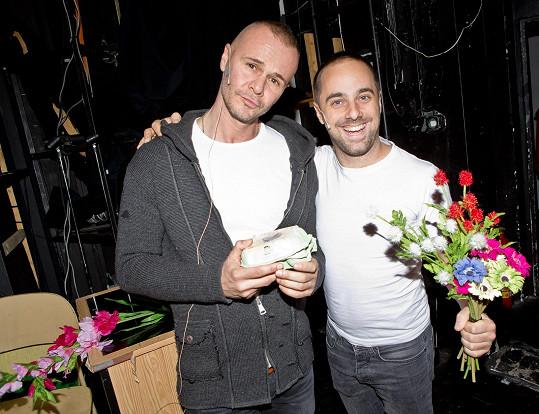 Braňo Polák a Petr Kutheil se připravují na představení.