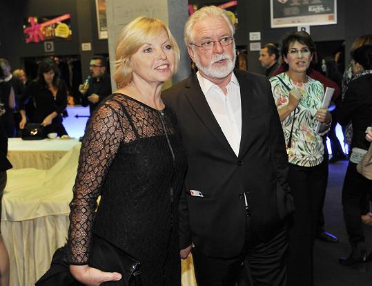 Jaromír Hanzlík s přítelkyní Lenkou