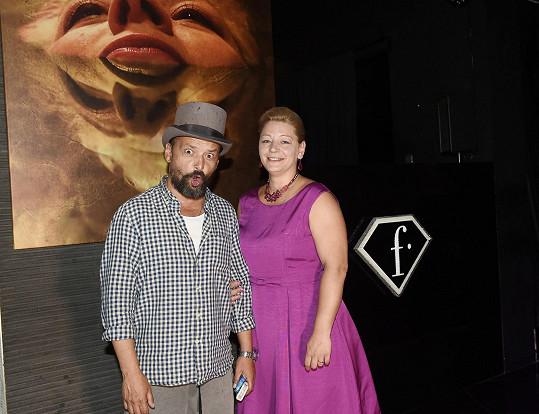 S výtvarníkem Romanem Řehákem a svým obrazem