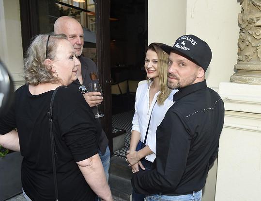 Na srazu se potkali i s tehdejšími porotci Ondřejem Soukupem a Gabrielou Osvaldovou. Ti byli tehdy ještě manželé.